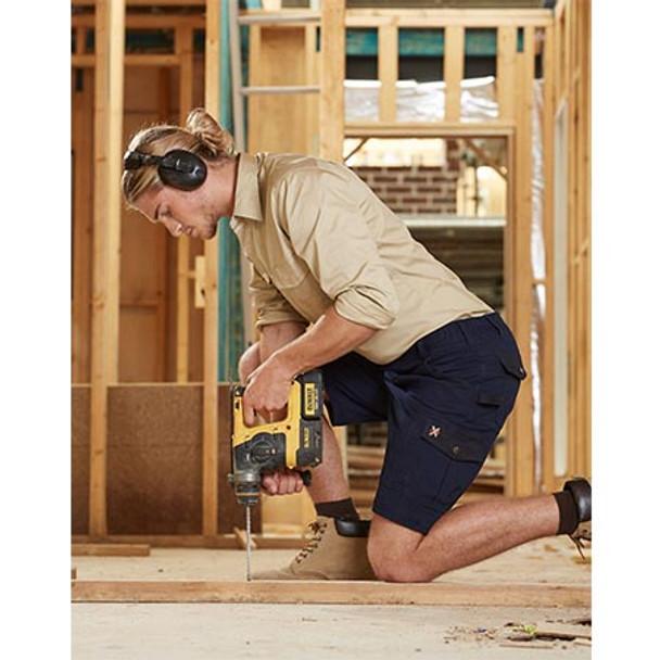 WP23 Mens Stretch Cargo Work Shorts with Design Panel Treatment - Winning Spirit