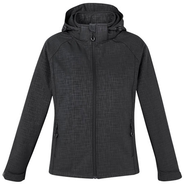 Black - J135L Ladies Geo Jacket - Biz Collection