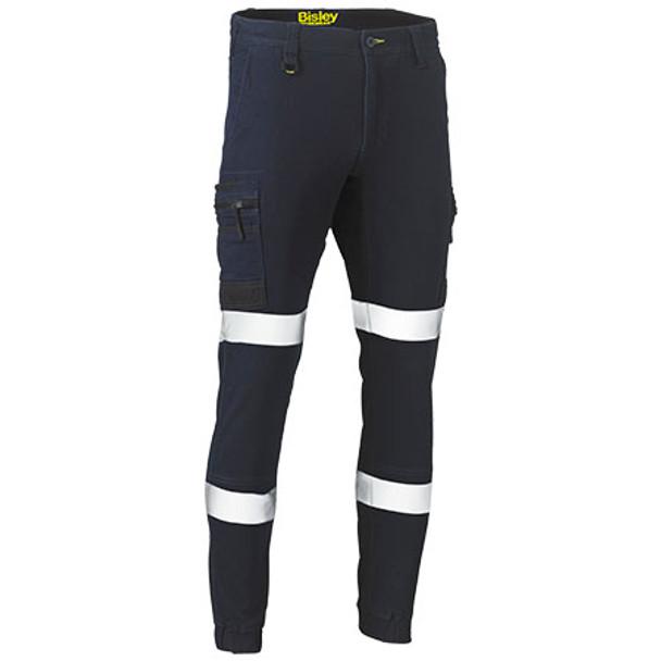 Navy - BPC6335T Flex and Move Stretch Denim Cargo Cuffed Pants - Bisley