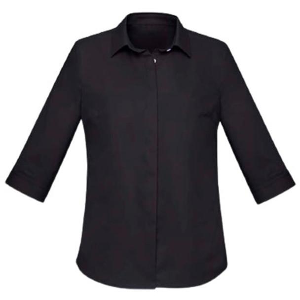 Black - RS968LT Womens Charlie 3/4 Shirt - Biz Corporates