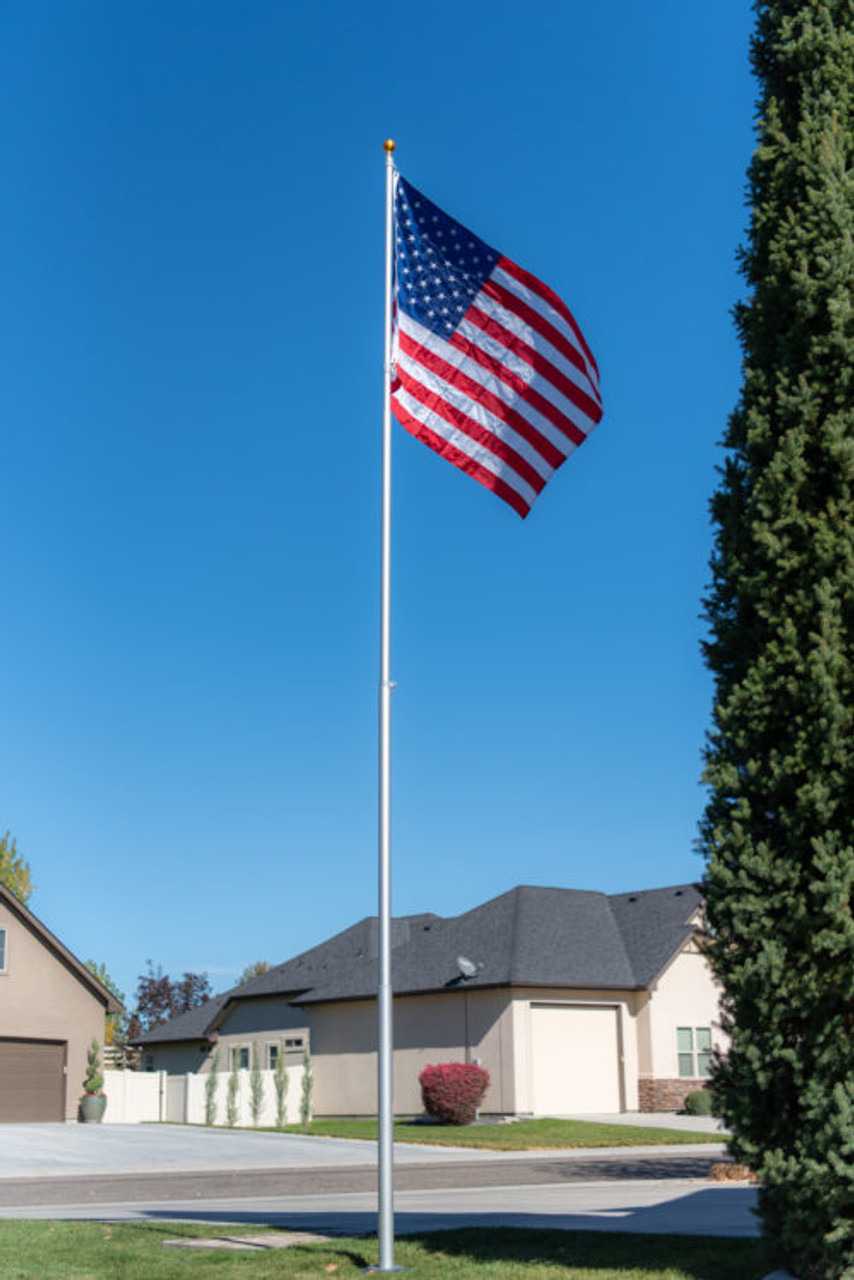 Titan Telescoping Flagpole Made In Usa Grand New Flag