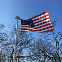 Nylon American Flag flying high and proud. All 100% Made in the U.S.A.