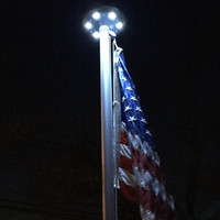 Titan Solar Disc Light-Shining bright on 3'x5' American Flag Made in USA