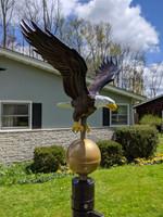 Medium natural painted flagpole eagle. Made in USA