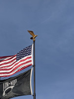 Gold Bronze Eagle for flagpoles 25' and taller Made in USA