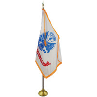 3'x5' Nylon Indoor U.S. Army Flag shown with optional hardware.