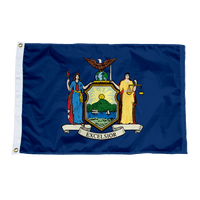 New York State Nylon Flag Made in USA