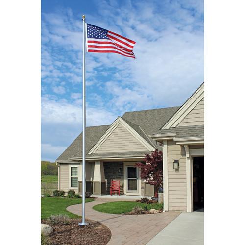 Traditional Aluminum Flagpole 20' Made in USA
