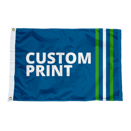 "Custom 12""x18"" Flags."