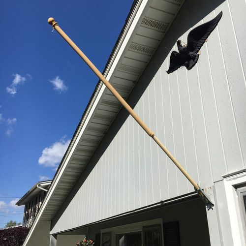 The Liberty 5' Wooden Flagpole Kit Made in USA
