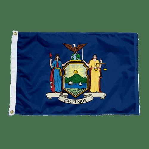 New York State Nylon Flag Made in USA
