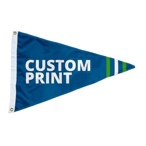 Custom 2.5'x4' Pennant Flags.