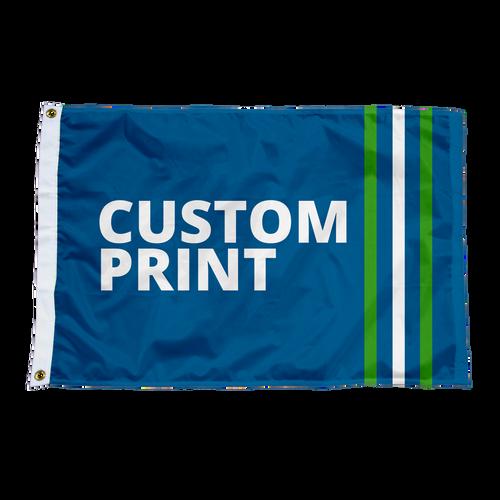 "Custom 12""x18"" Flags."