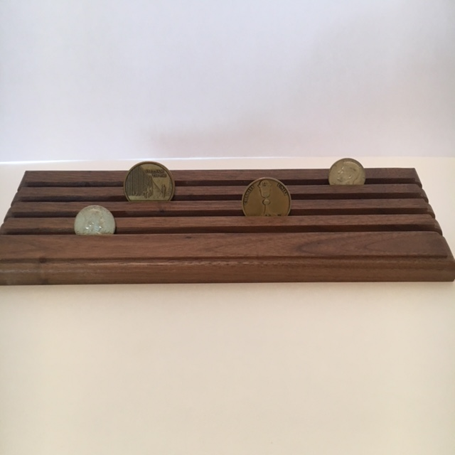 4 Row Coin Display Rack or Holder-Made in USA