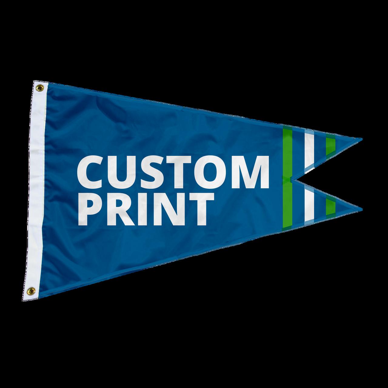 Custom 4'x6' Burgee Flags-Made in USA