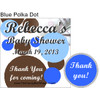 Blue Polka Dot Hershey Kiss Pillow Packs