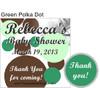 Green Polka Dot Hershey Kiss Pillow Packs