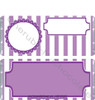 Purple Stripe Baby Shower Candy Wrappers