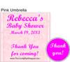 Pink Umbrella Hershey Kiss Pillow Pack