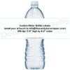 Custom Design Water Bottle Labels