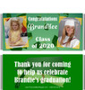 Green Graduation Candy Wrappers with Photos