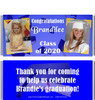 Blue Graduation Candy Wrappers with Photos
