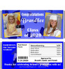 Blue Graduation Candy Wrappers with Nutritional Label