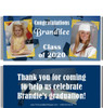 Dark Blue Graduation Candy Wrappers with Photos