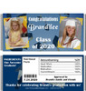 Dark Blue Graduation Candy Wrappers with Nutritional Label