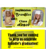 Yellow Graduation Candy Wrappers with Photos