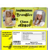 Yellow Graduation Candy Wrappers with Nutritional Label