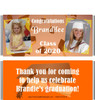 Orange Graduation Candy Wrappers with Photos