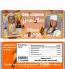 Orange Graduation Candy Wrappers with Nutritional Label