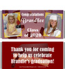 Maroon Graduation Candy Wrappers with Photos