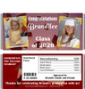Maroon Graduation Candy Wrappers with Nutritional Label