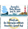 Nautical Blue Baby Shower Candy Wrappers
