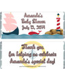 Nautical Pink Baby Shower Candy Wrappers
