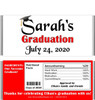 Red Graduation Chocolate Bars with Nutritional Label