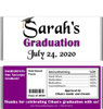 Purple Graduation Chocolate Bars with Nutritional Label