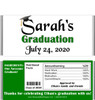 Green Graduation Chocolate Bars with Nutritional Label