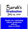 Blue Graduation Chocolate Bars no Picture