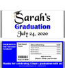 Blue Graduation Chocolate Bars with Nutritional Label