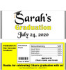 Yellow Graduation Chocolate Bars with Nutritional Label