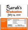 Orange Graduation Chocolate Bars with Nutritional Label