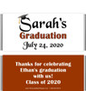 Brown Graduation Chocolate Bars no Picture