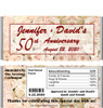 50th Anniversary Bed of Roses Candy Wrappers with Nutritional Label