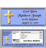 Baptism Boy Blue Candy Wrapper with Nutritional Label