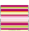Pink Striped Candy Bar Wrappers