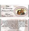 Candy Wrapper Wedding Favor Design no Nutritional Label