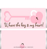 Key Heart Candy Wrappers